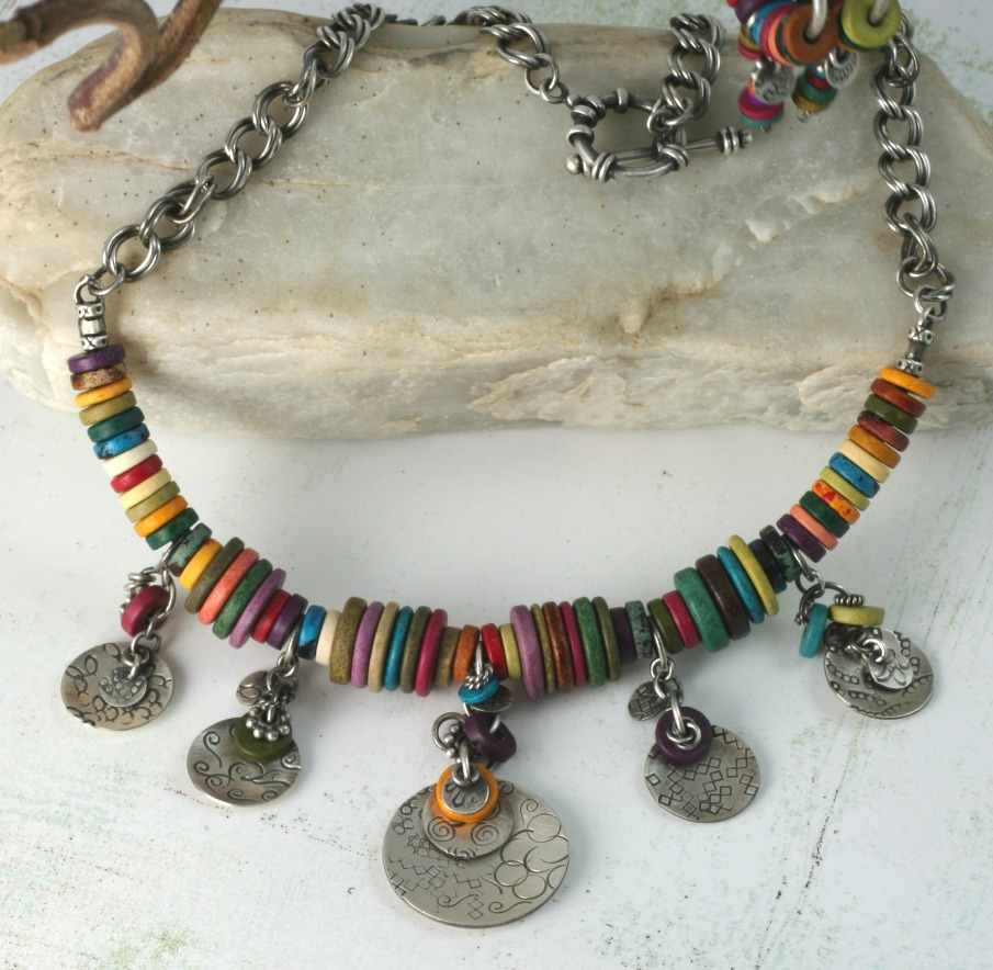8574a2f12 I especially love the necklaces, specifically the colorful Greek washer  bead & silver ...